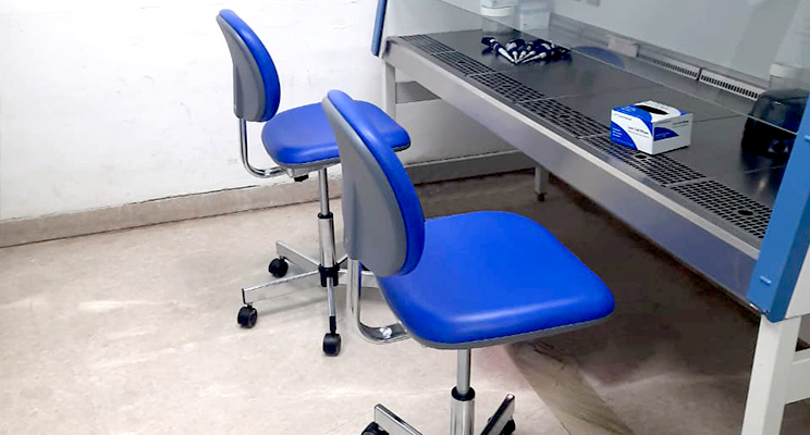 Uchida Cleanroom Chairs brought to India by Messung Workplace Technology
