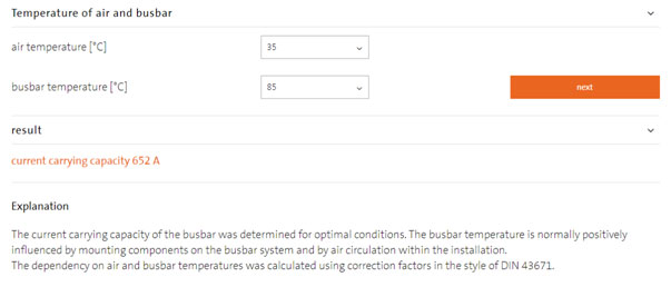 Temperature of Air and Busbar